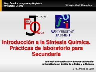 Introducción a la Síntesis Química. Prácticas de laboratorio para Secundaria