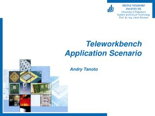 Teleworkbench Application Scenario