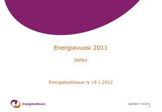 Energiavuosi 2011 Sähkö
