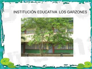 INSTITUCIÓN EDUCATIVA  LOS GARZONES