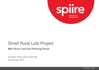 Small Rural Lots Project