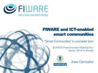 FIWARE and ICT-enabled smart communities