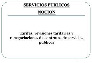 SERVICIOS PUBLICOS NOCION