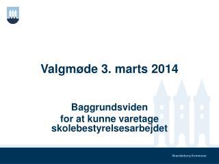 Valgmøde 3. marts 2014