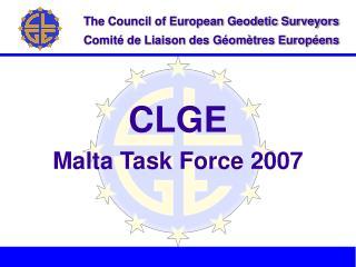 CLGE Malta Task Force 2007