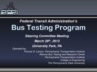 Bus Testing Program