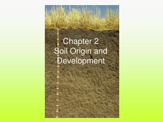 Chapter 2 Soil Origin and Development