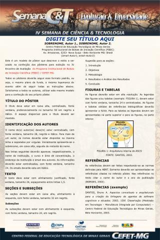 SOBRENOME, Autor 1., SOBRENOME, Autor 2. Centro Federal de Educação Tecnológica de Minas Gerais