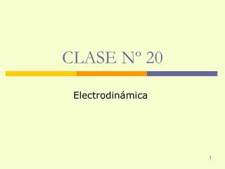 CLASE Nº 20