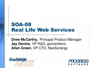 SOA-08  Real Life Web Services