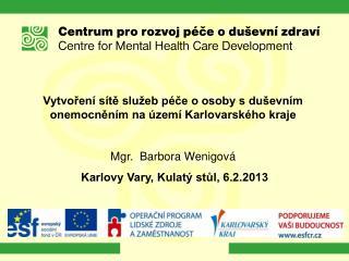 Vytvoření sítě služeb péče o osoby s duševním onemocněním na území Karlovarského kraje