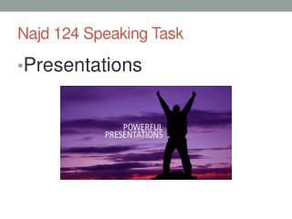 Najd 124 Speaking Task