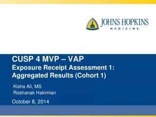 CUSP 4 MVP – VAP Exposure Receipt Assessment 1:  Aggregated Results (Cohort 1)