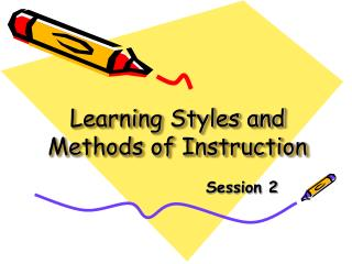 Learning Styles and Methods of Instruction