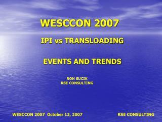 WESCCON 2007