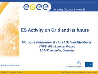 ES Activity on Grid and its future