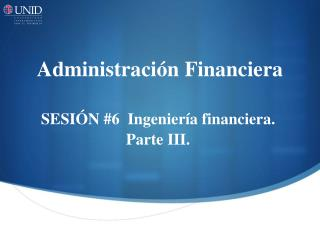 Administraci�n Financiera