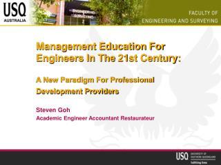 Steven Goh Academic Engineer Accountant Restaurateur