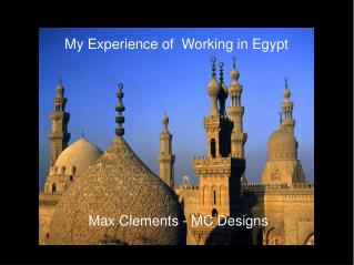 My Experience of  Working in Egypt