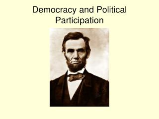 Democracy and Political Participation