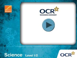 OCR Cambridge National in Science (Level 1 / 2)