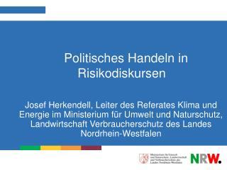 Politisches Handeln in Risikodiskursen