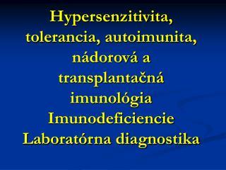 Hypersenzitivita