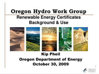 Oregon Hydro Work Group Renewable Energy Certificates Background  Use