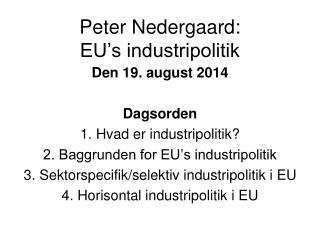 Peter Nedergaard: EU's industripolitik
