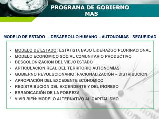PROGRAMA DE GOBIERNO                      MAS