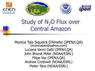 Study of N 2 O Flux over Central Amazon