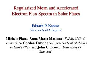 Regularized Mean and Accelerated Electron Flux Spectra in Solar Flares