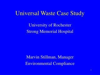 Universal Waste Case Study