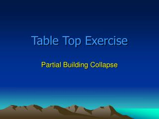 Table Top Exercise