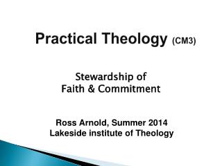 Practical Theology  (CM3)
