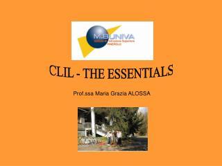 CLIL - THE ESSENTIALS