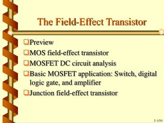 The Field-Effect Transistor