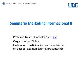 Seminario Marketing Internacional II