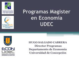 Programas Magister  en Economía UDEC