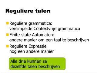 Reguliere talen
