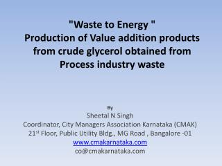 By Sheetal N Singh Coordinator, City Managers Association Karnataka (CMAK)