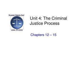 Unit 4: The Criminal Justice Process