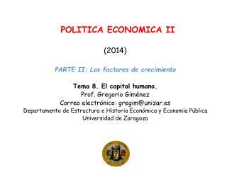 POLITICA ECONOMICA II