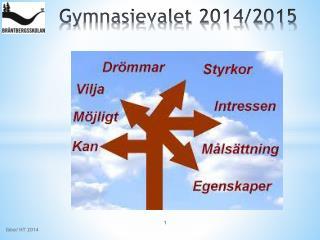 Gymnasievalet 2014/2015