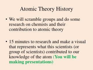 Atomic Theory History