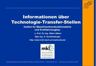 Informationen über  Technologie-Transfer-Stellen