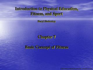 Basic Concept of Fitness