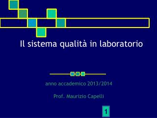 Il sistema qualità in laboratorio