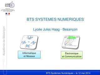 BTS  SYSTEMES  NUMERIQUES Lycée  Jules  Haag  - Besançon