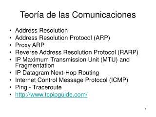 Teoría de las Comunicaciones